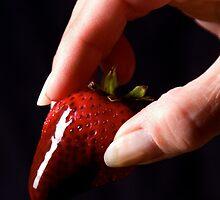 Little drip of chocolate by Jeffrey  Sinnock