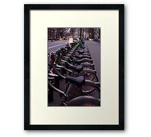 Les Bicyclettes  Framed Print