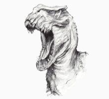 Dinosaur Roar T- Shirt by debidevitta