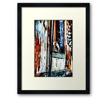 Ghost Kitty in the Window Framed Print