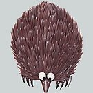 Echidna Pale Blue by Lou Van Loon