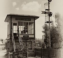 Crewe Station 'A' Signalbox by David J Knight