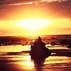 sunset silhouette by rachelwalker