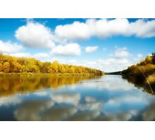 View on the autumn river Photographic Print