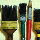 Paintbrushes - &quot;Tools of the Trade&quot; by LindaAppleArt