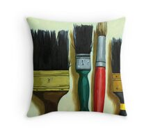 """Paintbrushes - """"Tools of the Trade"""" Throw Pillow"""