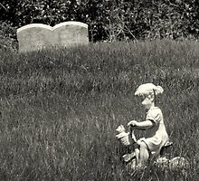 Headstone for a three year old girl by Patty Gross