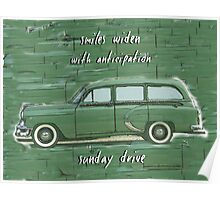 Sunday Drive Haiku Art Print Poster