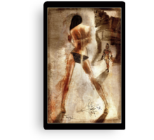 Trojan - a Greek Warrior and a girl Canvas Print