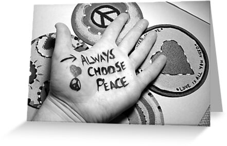 Always Choose Peace Black & White Photograph by Jeanine Molnar