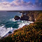 Carnewas and Bedruthan Steps, North Cornwall, England by Craig Joiner