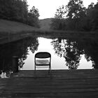 Old Chair at Howard&#x27;s Pond by Kent Nickell