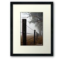 Misty Wire Framed Print