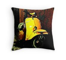 Vespa On Acid Throw Pillow