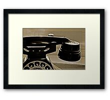 Old Phone in the Window Framed Print