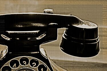 Old Phone in the Window by Jen Waltmon