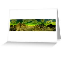 I'm Dreaming of Green Skies - A Pano Greeting Card