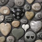 Heart shaped stones and rocks by sumners