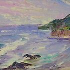 'Coastline #8' - stormy day by Jean  W. Thomas