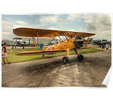 Bi-Plane in Yellow Poster