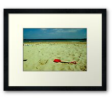 lonely red spade Framed Print