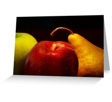 Two Pear Greeting Card