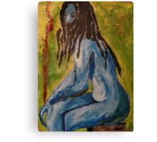 Blue Vampire Canvas Print