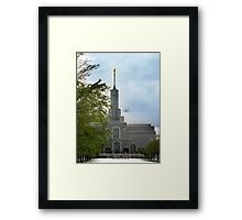 Mount Timpanogos Temple - May Snowstorm Framed Print