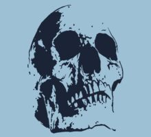 Big Blue Skull by matthewdunnart