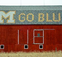 Go Blue Michigan Barn by Robert Kelch, M.D.