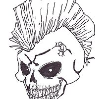 Punk Rock Skull by fizzyart