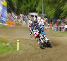 Zoom effect motocross by Frederic Chastagnol