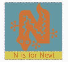 Newt Animal Alphabet by Zehda