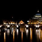 Ponte Sant&#x27;Angelo, Rome by George Parapadakis (monocotylidono)