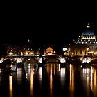 Ponte Sant'Angelo, Rome by George Parapadakis (monocotylidono)