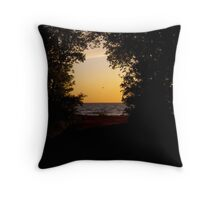 beginning of the sunset Throw Pillow