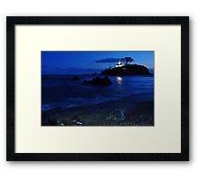 Historic Battery point lighthouse ,Ca. Framed Print