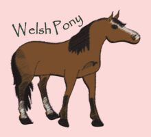 Welsh Pony sec B: tee, sticker, kids clothing by Diana-Lee Saville