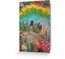 City - vivid Greeting Card