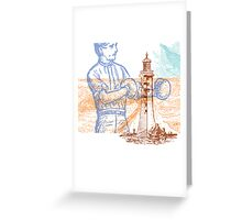 Lighthouse Keeper Greeting Card
