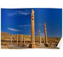 Palace Columns - Persepolis - Iran Poster