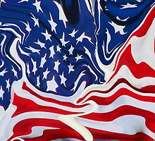 All American Abstract by Leslie Wood