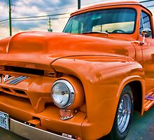 Orange 'Hotrod' Ford by THECUCKOOPHOTOG