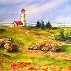 Oregon Lighthouse by Betty Burnitt