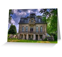 Matthews Mansion - Ellettsville, IN Greeting Card