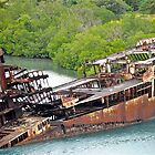 Ship wreck in Honduras by Carl LaCasse