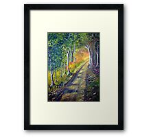 Walking to the light Framed Print