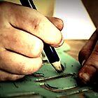 Little Artist Hands Hard at Play by SarahLynn-Photo