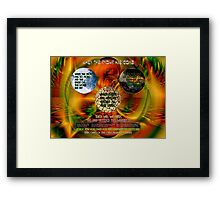 Universal Enigma - The Warning Signs Were There Framed Print