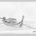 Thailand - Long tail passenger boat by James Lewis Hamilton